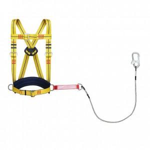 Удерживающая привязь УПС 2 аБД строп металлический трос в ПВХ оболочке с амортизатором