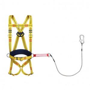 Удерживающая страховочная привязь УСП 2 аБЖ (строп металлический трос в ПВХ оболочке с амортизатором)